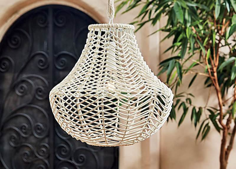 Henry Indoor-Outdoor Rattan Pendant Light, CB2, $140