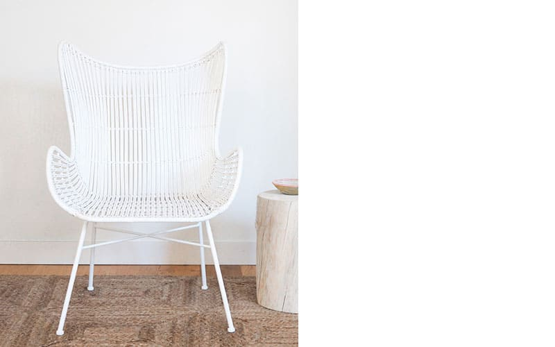 La Jolla White Butterfly Chair, The Cross, $675
