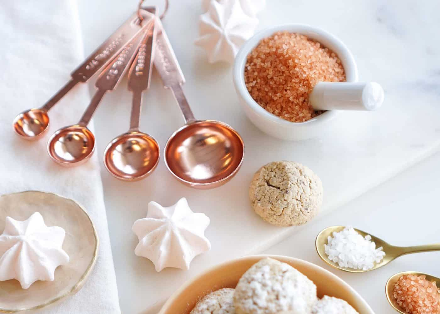 Blush Peony Rose Gold Measuring Cups and Spoons
