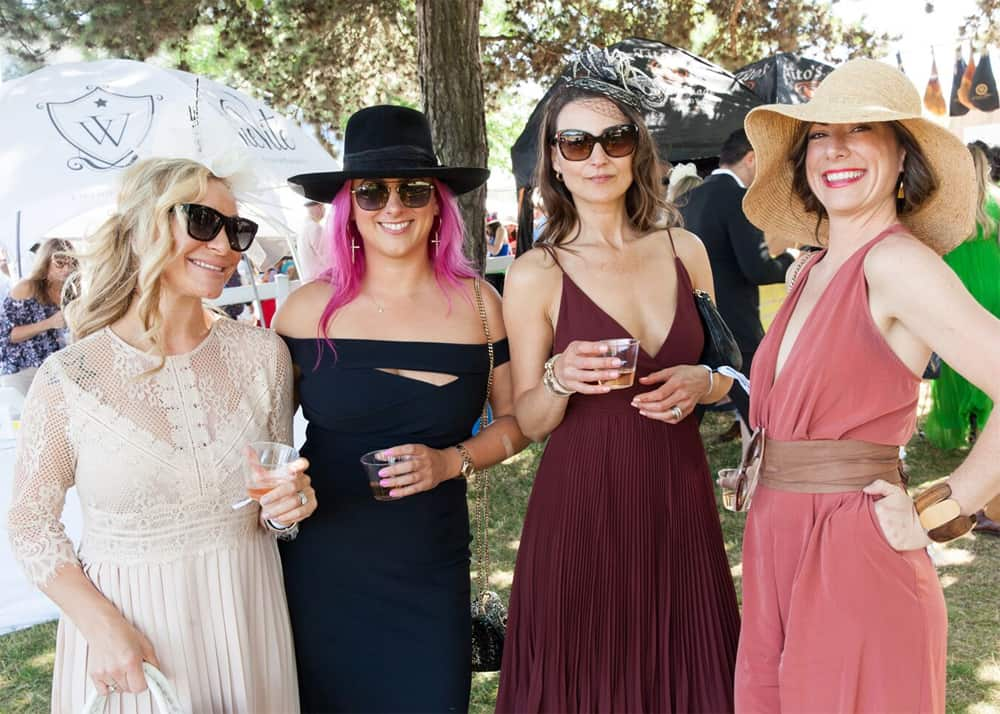 Chloe DeVito, lifestyle manager, Alexandra Thompson, owner of Wardrobe Apparel, Linda Kovic owner Pender Harbour Resort and Marina, Jessica Madeline, Arbour Estate and Yacht Management