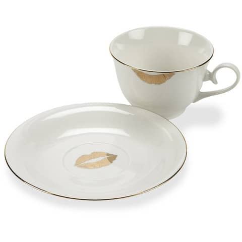Abbott Gold Lips Cup And Saucer Set