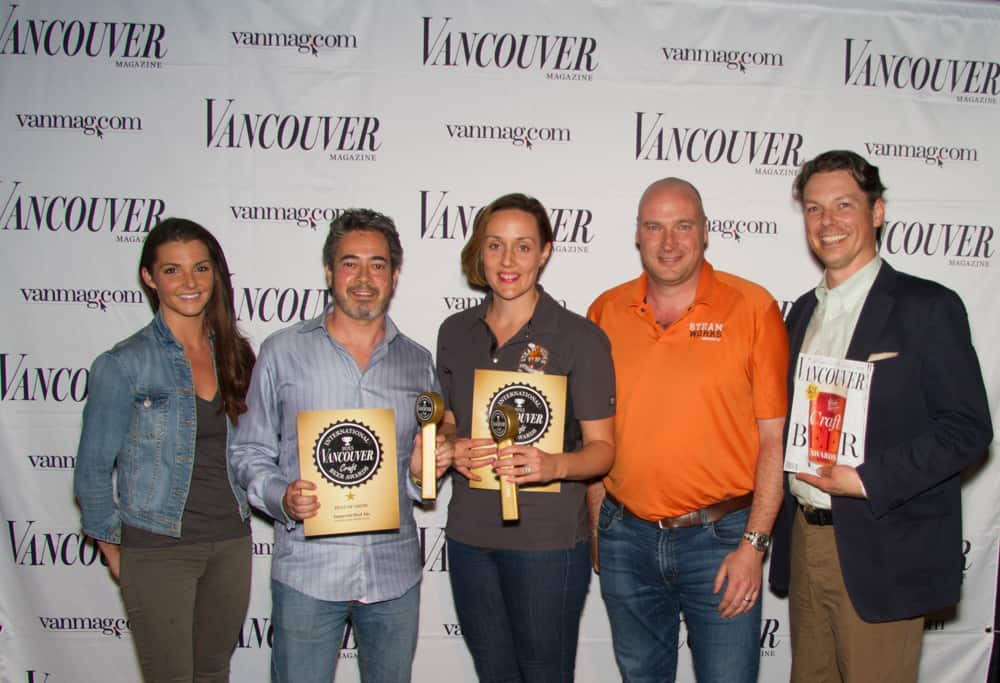 The Steamworks Crew Posed With Vancouver Magazine's Publisher Tom Gierasimczuk.