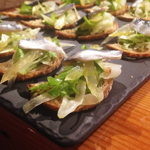 Marinated Anchovy, Fennel, Celery, And Lemon.