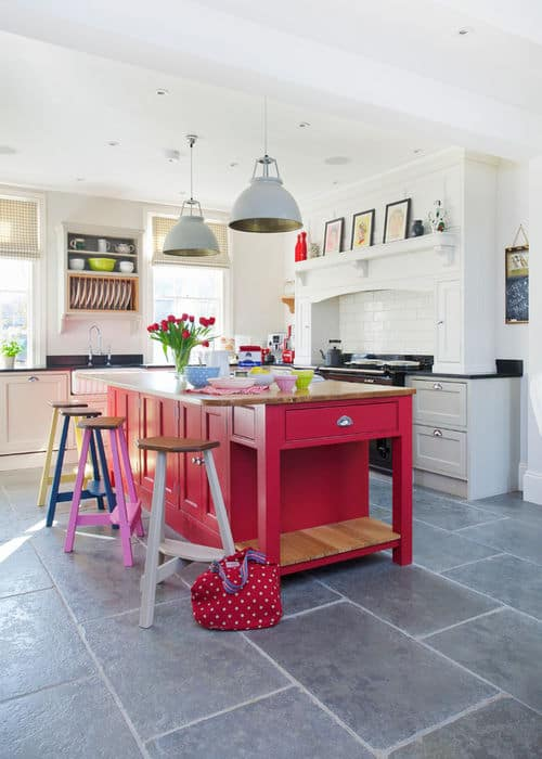 5 Ways To Add A Bright Bold Hit Of Colour To Your Kitchen Western