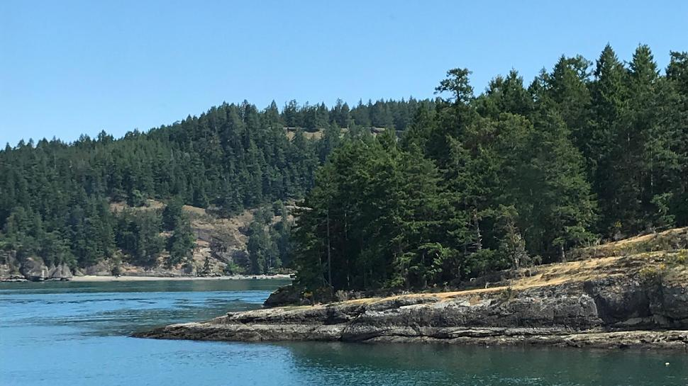 Pender Island - view from ferry
