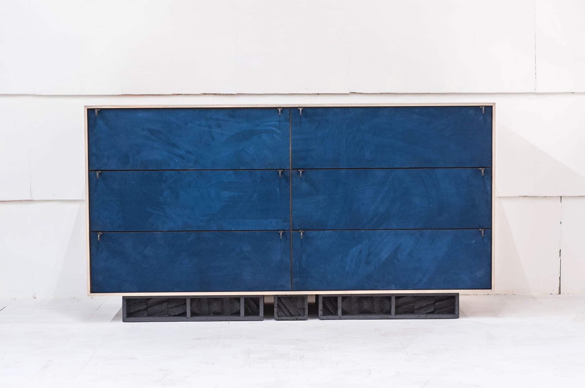 painted credenza blue jeff martin joinery