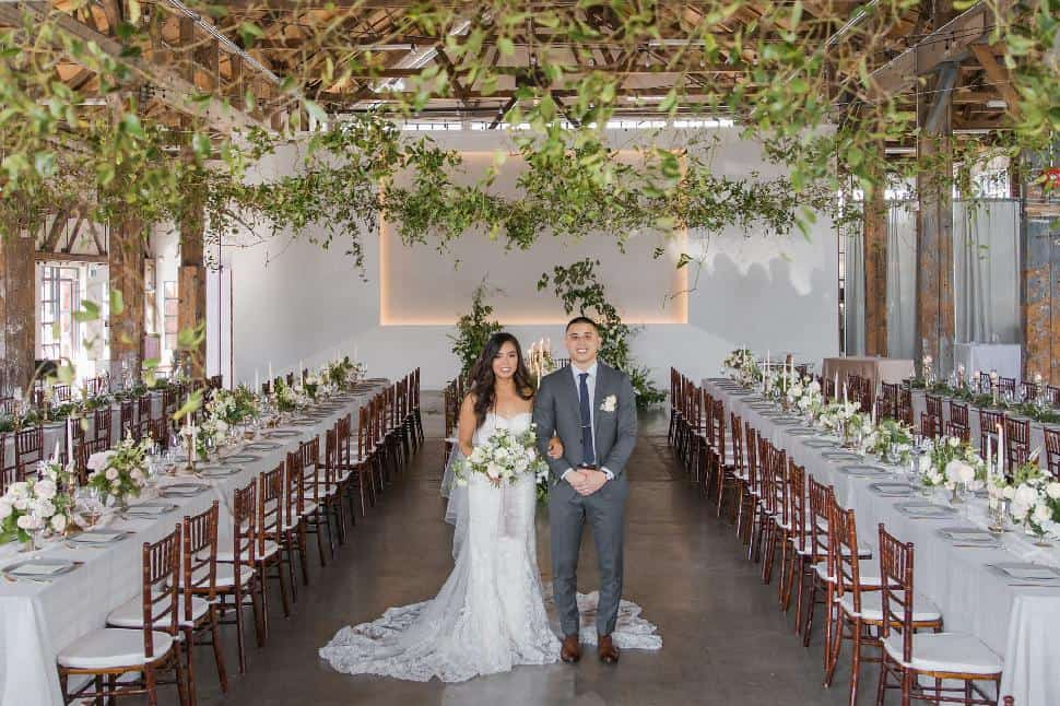 wedding greenery industrial