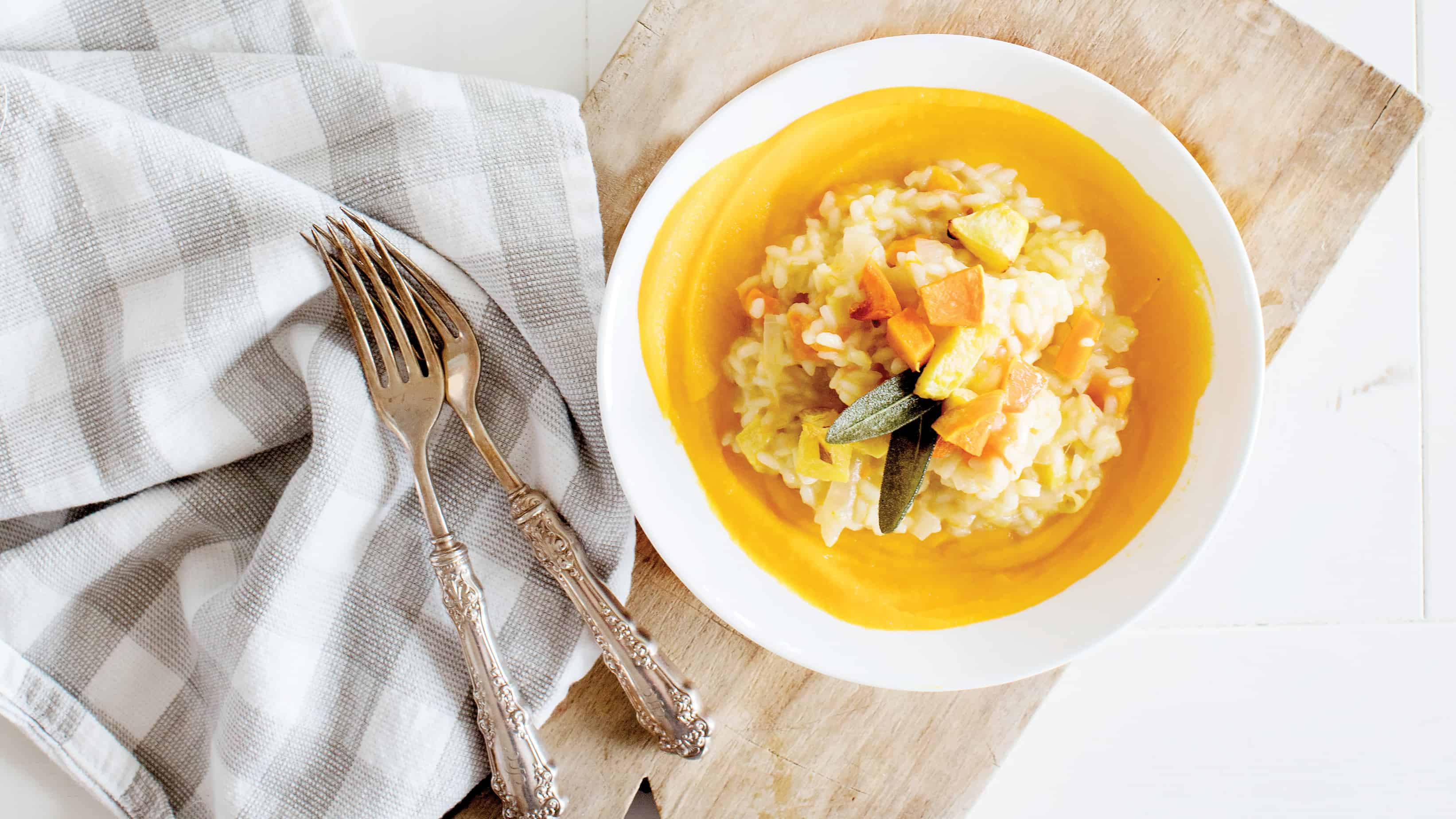Squash Risotto with Fried Sage Recipe