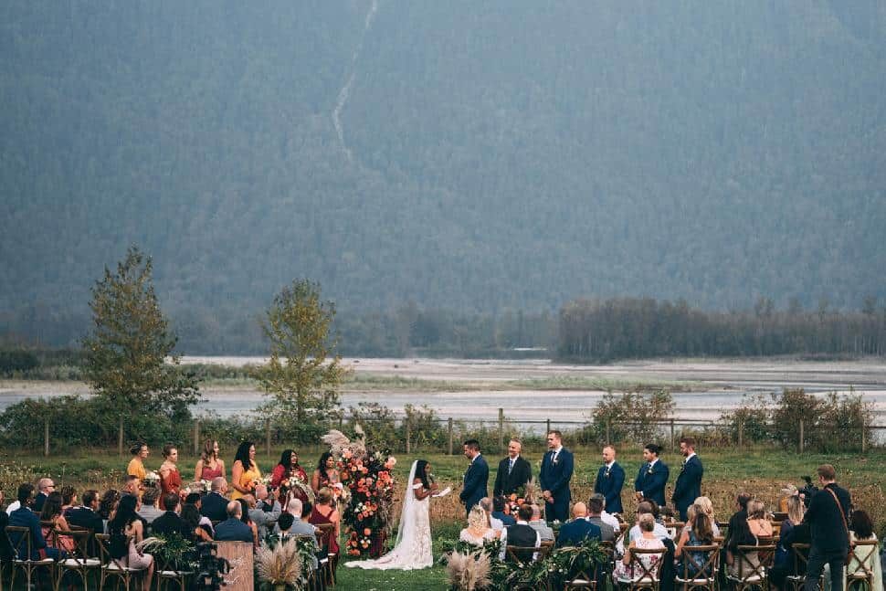 mountain backdrop wedding