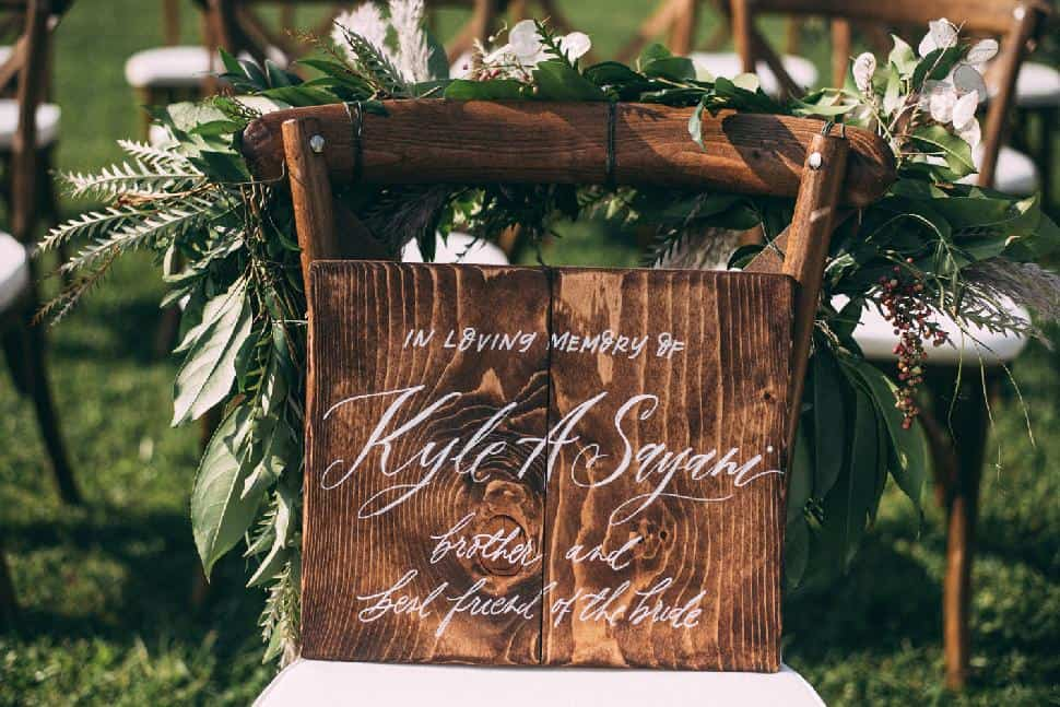 loving memory sign wedding