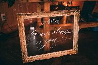 glass sign wedding