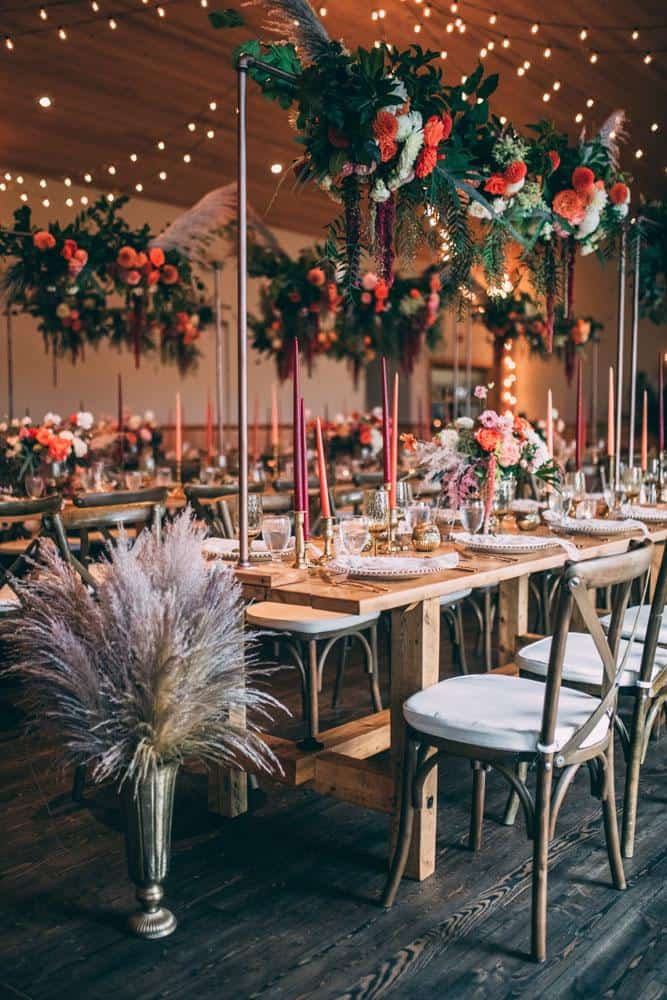 florals table wedding