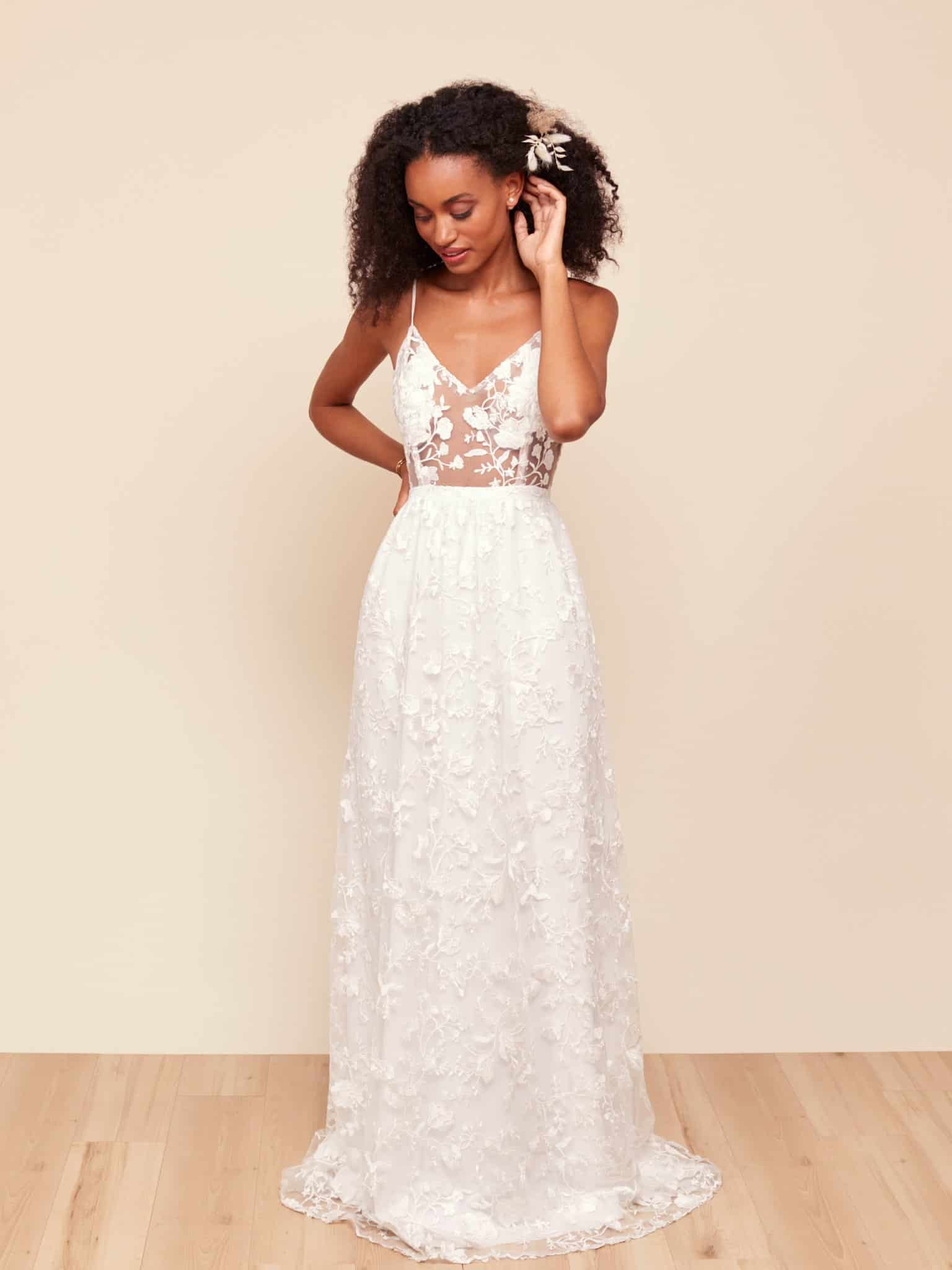 Park and Fifth Valdes sheer bridal dress