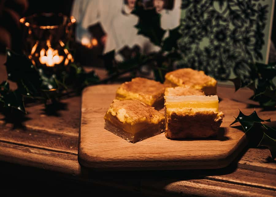 Holiday Lemon Shortbread Slice