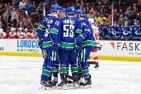 Vancouver Canucks on the ice
