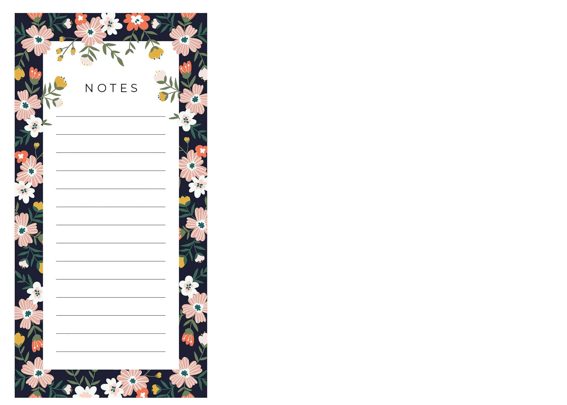 Simply Beautiful – Floral Notepad, $10
