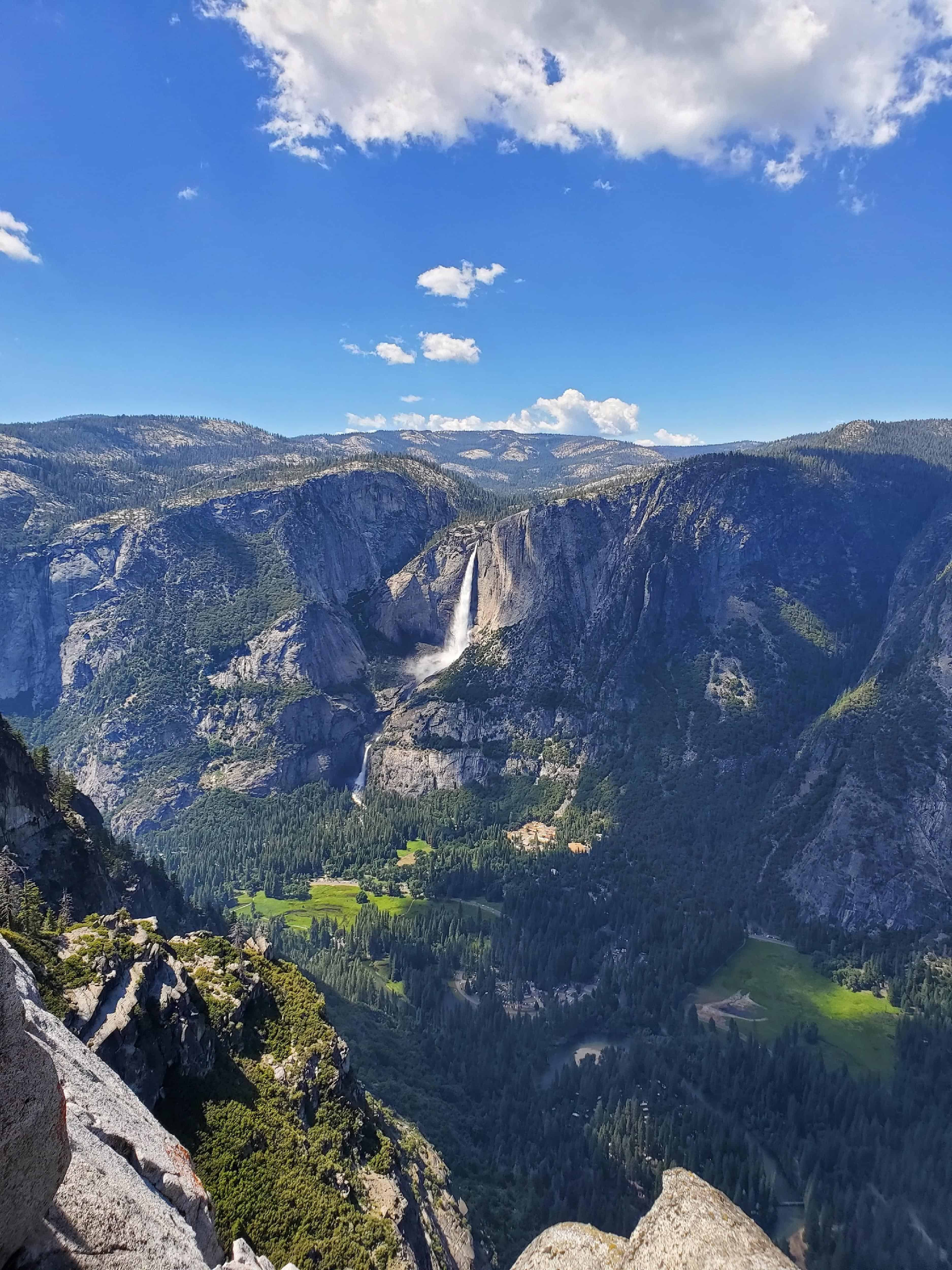 Stunning Views of Yosemite Falls Afforded by Glacier Point Lookout