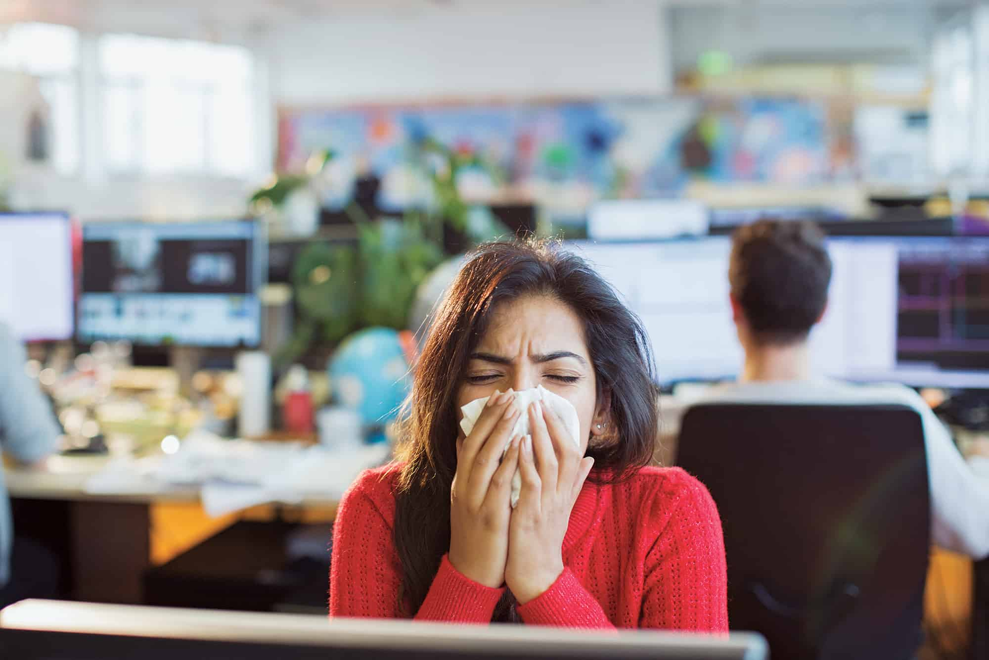 Go Figure: 'Tis the season for sharing...your cold and flu around the office