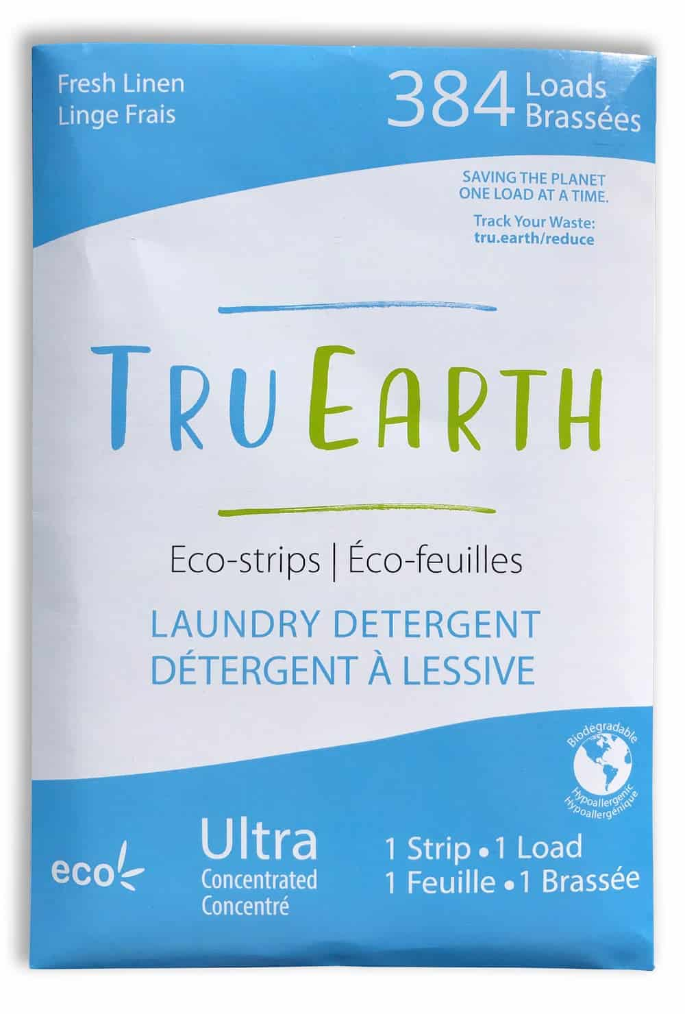 Tru Earth Eco Strips Laundry Detergent Fresh Linen 384