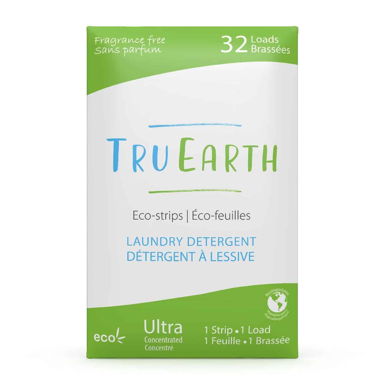 Tru Earth - Tru Earth Eco-strips Laundry Detergent (Fragrance-free) – 32 Loads | NOW: $19.95