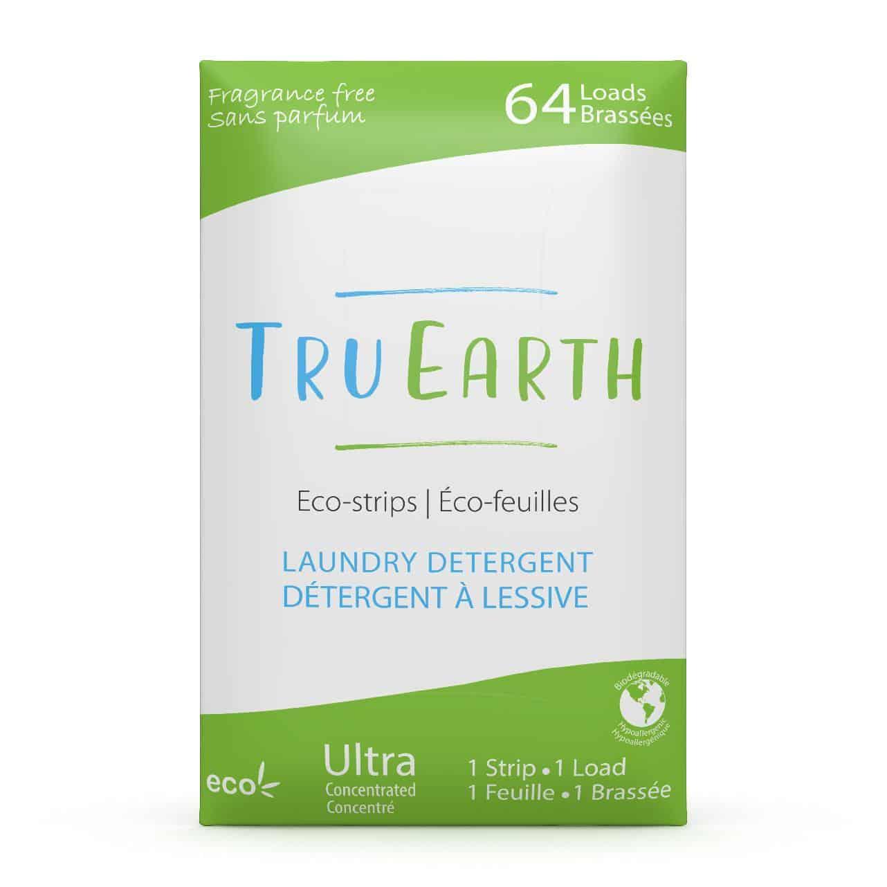Tru Earth - Tru Earth Eco-strips Laundry Detergent (Fragrance-free) – 64 Loads | NOW: $35.95