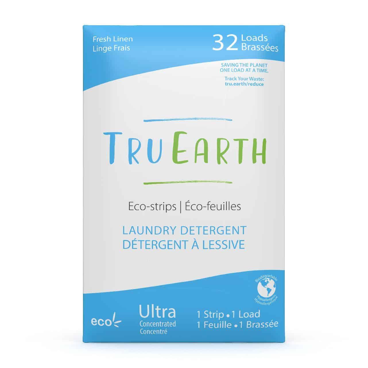 Tru Earth - Tru Earth Eco-strips Laundry Detergent (Fresh Linen) – 32 Loads | NOW: $19.95