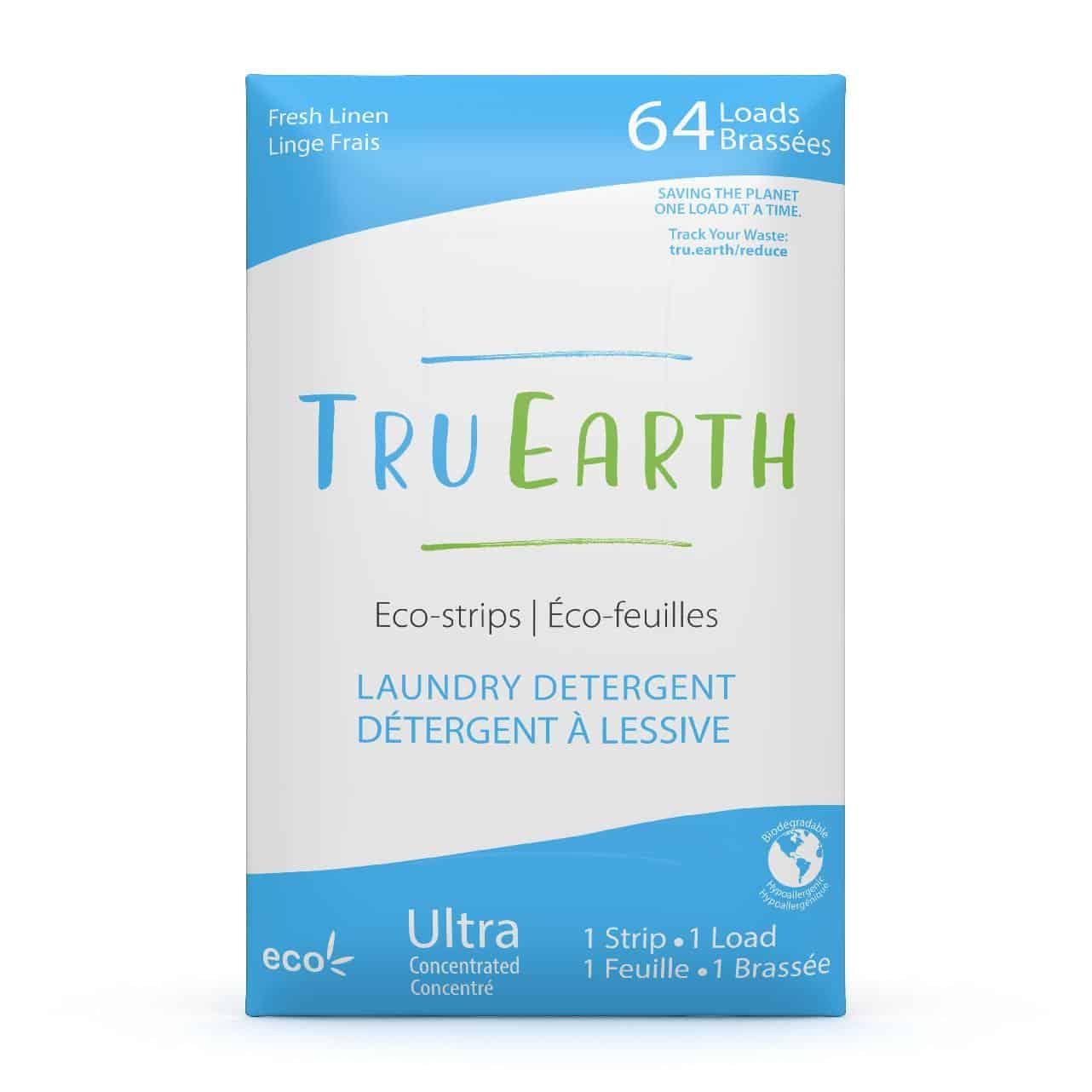 Tru Earth - Tru Earth Eco-strips Laundry Detergent (Fresh Linen) – 64 Loads | NOW: $35.95