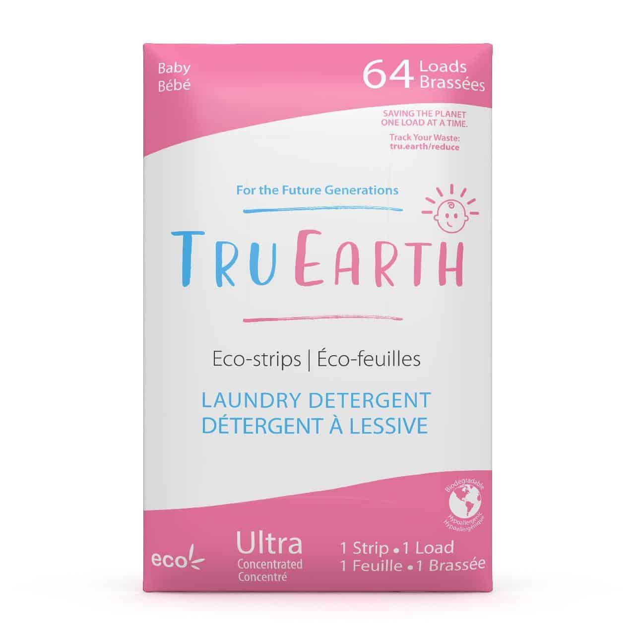 Tru Earth - Tru Earth Eco-strips Laundry Detergent (Baby) – 64 Loads | NOW: $35.95