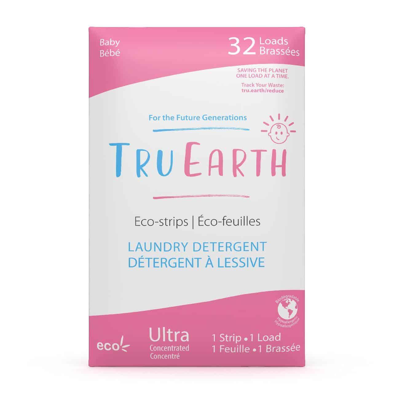 Tru Earth - Tru Earth Eco-strips Laundry Detergent (Baby) – 32 Loads | NOW: $19.95
