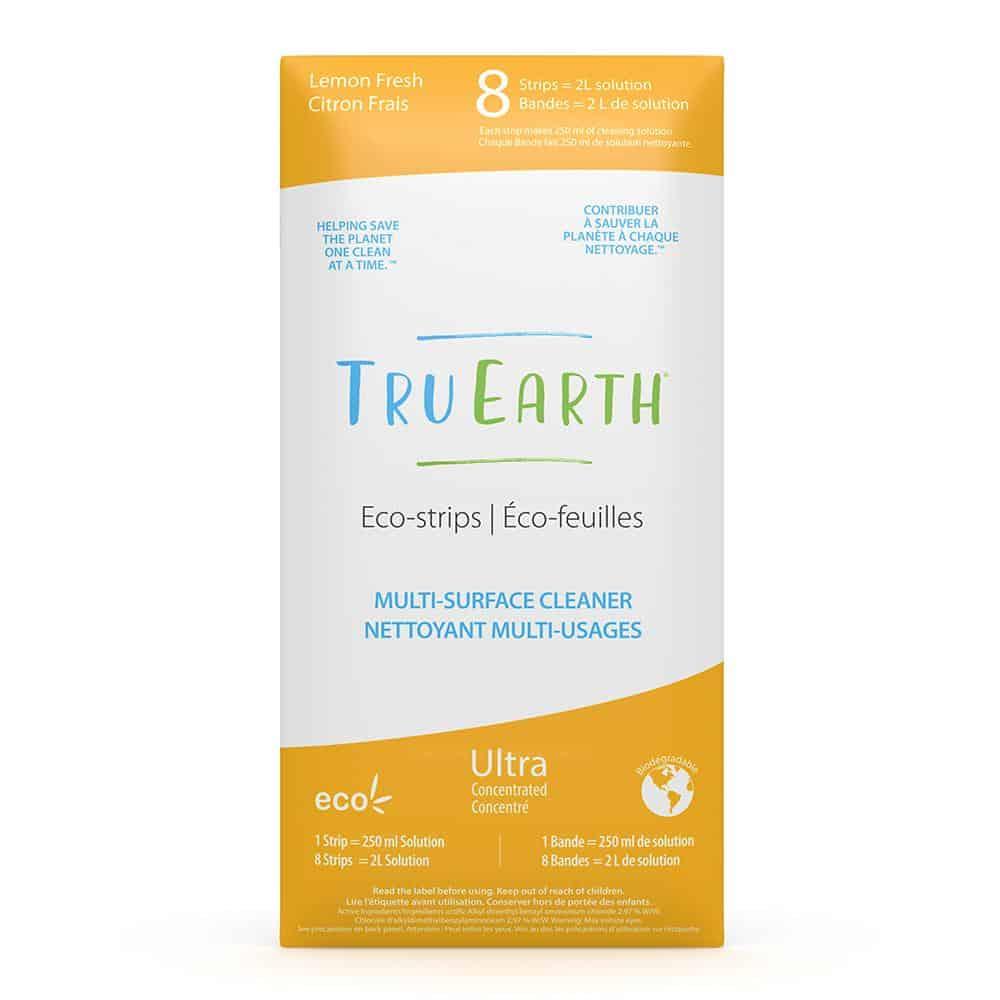 Tru Earth - Tru Earth Eco-strips Disinfecting Multi-Surface Cleaner (Lemon Fresh) – 8 Strips | NOW: $19.95