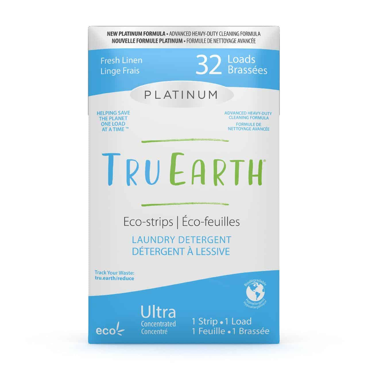 Tru Earth - Tru Earth Eco-strips Platinum Laundry Detergent (Fresh Linen) – 32 Loads | NOW: $21.95