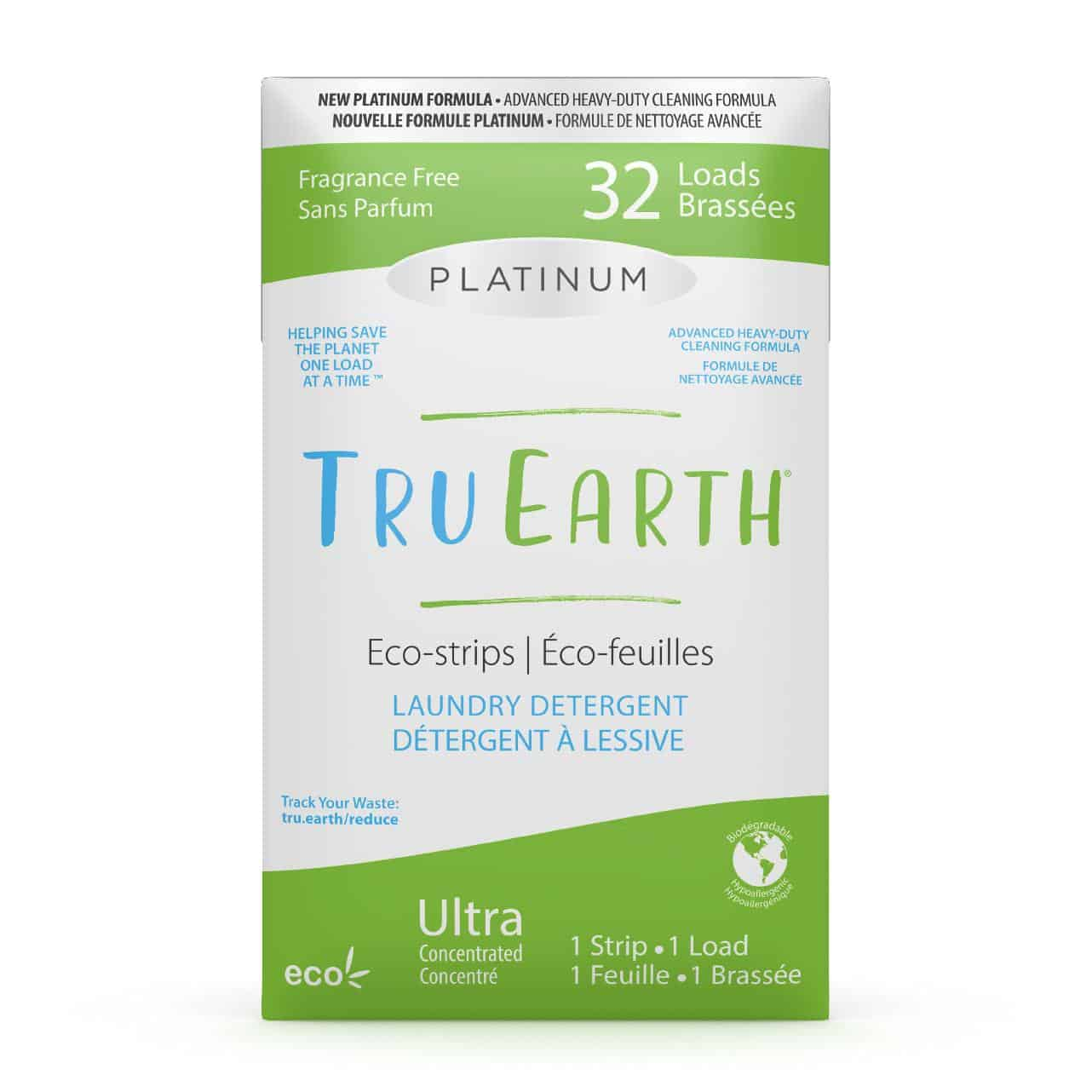 Tru Earth - Tru Earth Eco-strips Platinum Laundry Detergent (Fragrance-free) – 32 Loads | NOW: $21.95