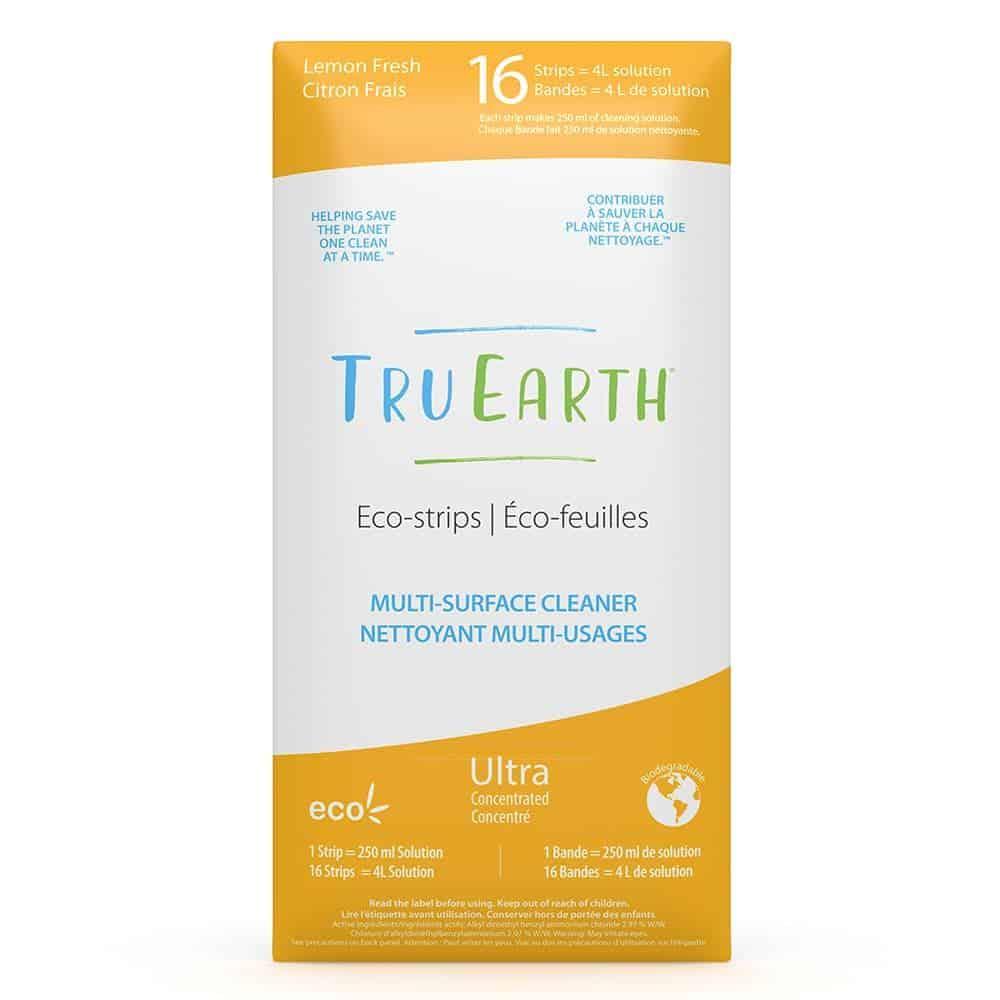 Tru Earth - Tru Earth Eco-strips Multi-Surface Cleaner (Lemon Fresh) – 16 Strips | NOW: $35.95