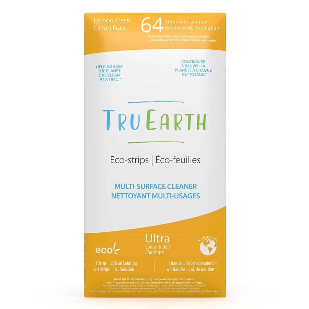 Tru Earth - Tru Earth Eco-strips Disinfecting Multi-Surface Cleaner (Lemon Fresh) – 64 Strips | NOW: $126.95