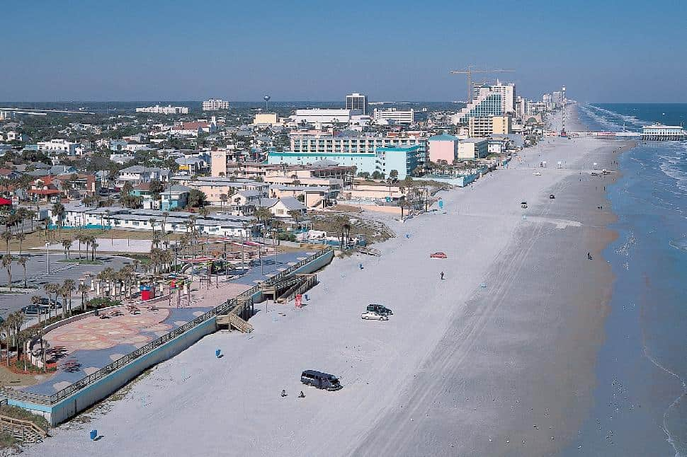 Daytona beach area aerial