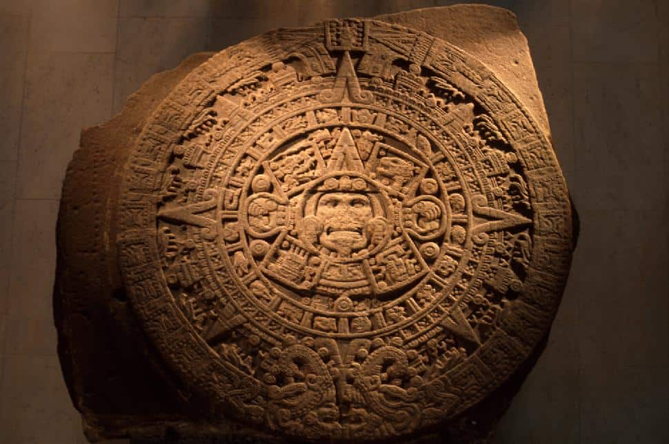 Caption for Aztec Calendar at the museum of anthropology: