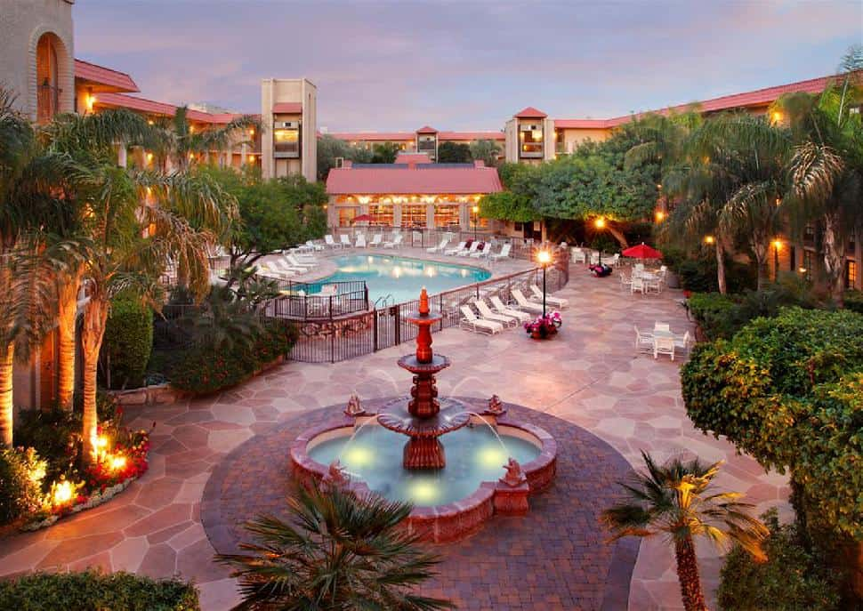 Chaparral Suites courtyard Fountain