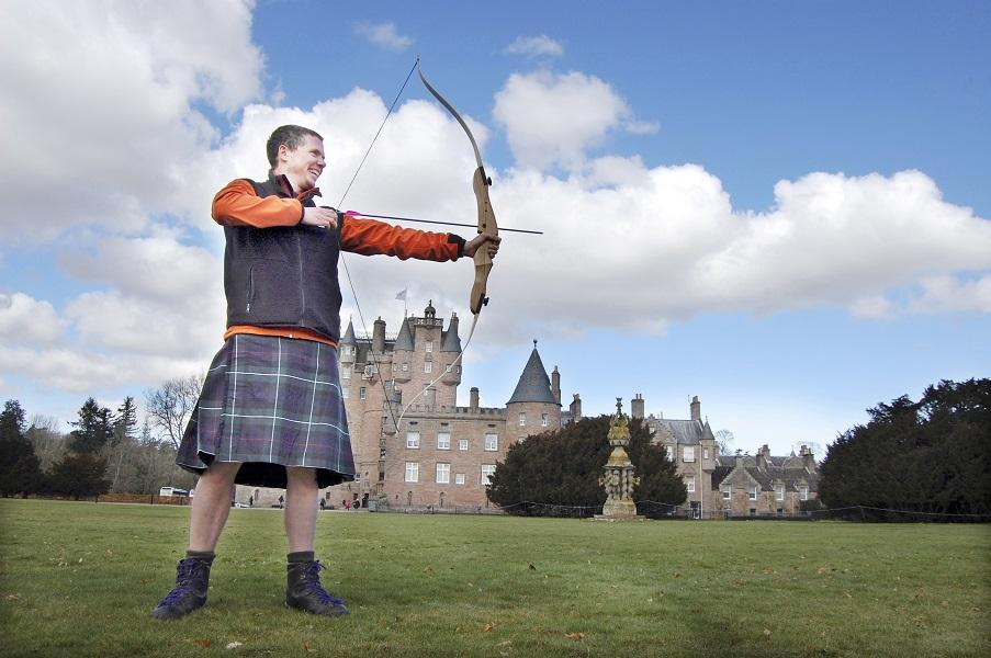 archery in a kilt
