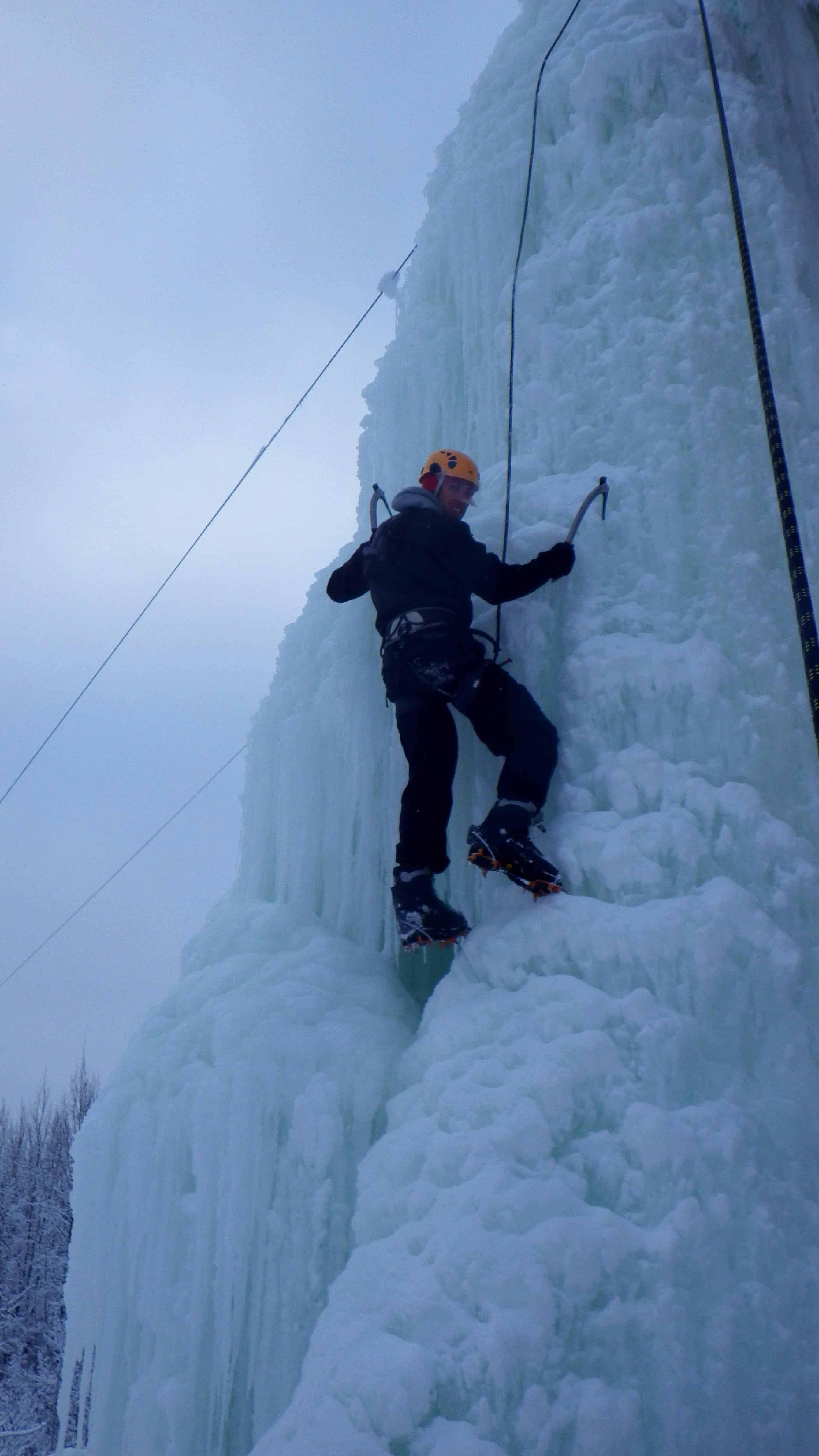 Grappling with an Ice Axe