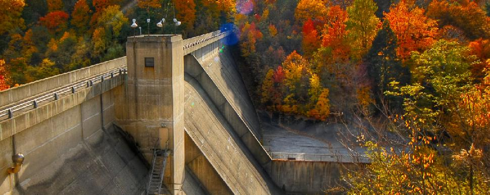 Lake View Cemetery Dam