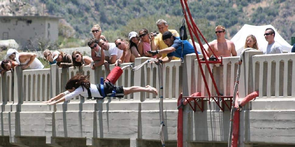 Bungee Jumping the Bridge to Nowhere
