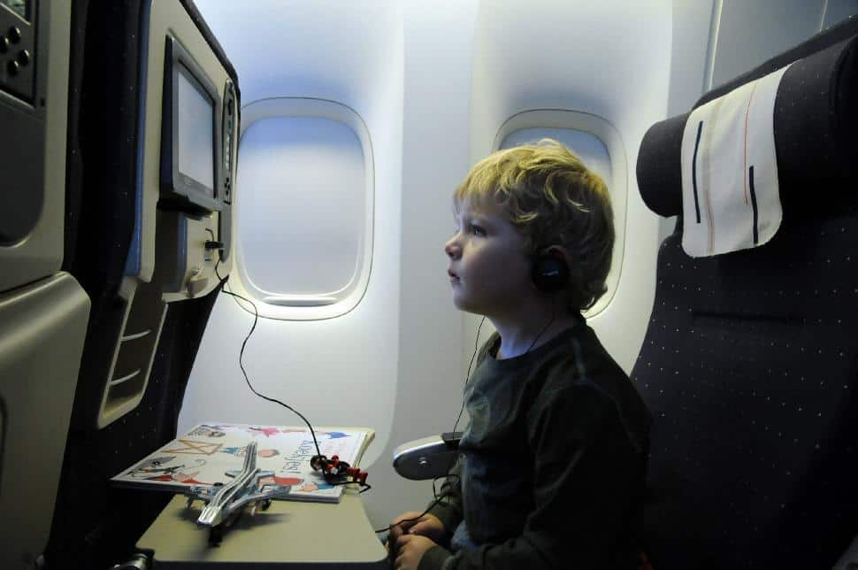 Little kid on plane