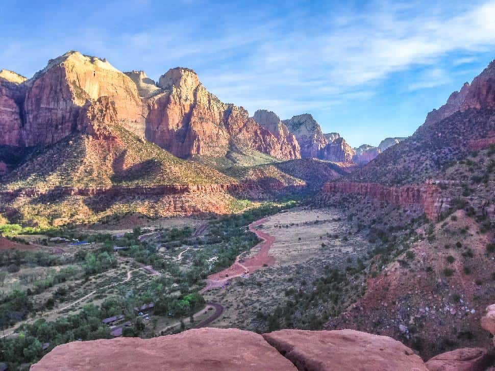Zion Canyon, viewed from the Watchman Trail