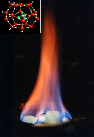 Burning hydrate inlay US Office Naval Research