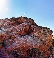 Standing on top of the world in Snow Canyon, Utah