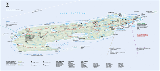 Map of Isle Royale National Park