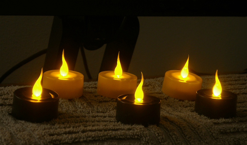 Spooky LED candles