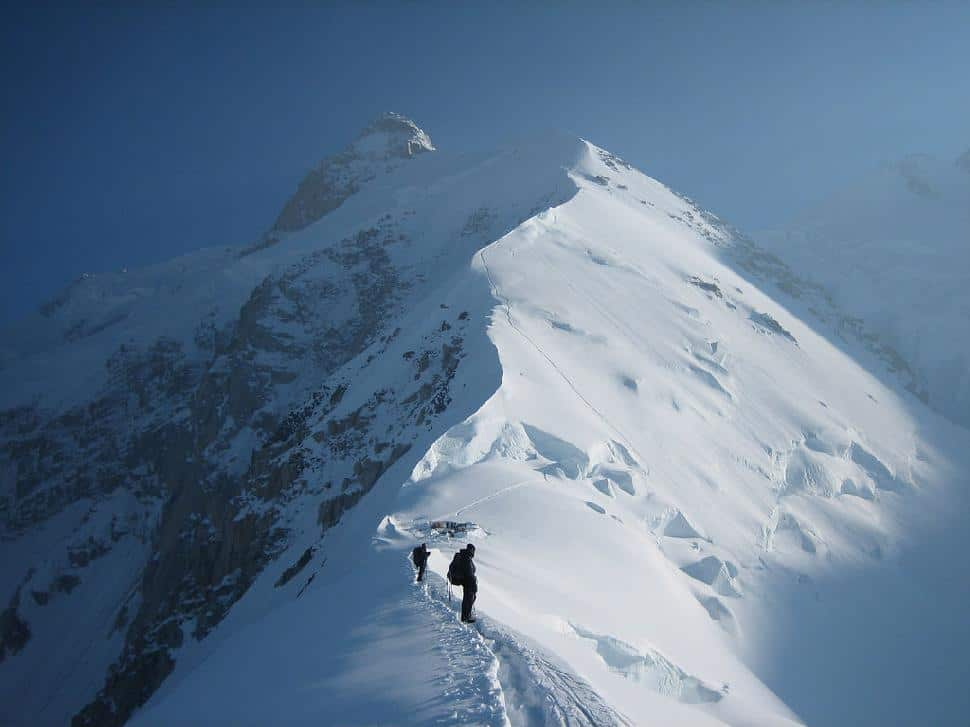 Climbing Mount Everest in the Himalayas