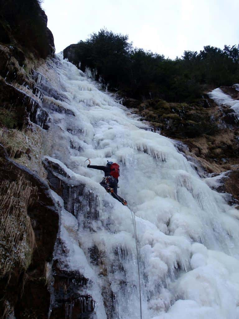 Ice Climb the Bruckenfall Frozen Waterfall in Switzerland