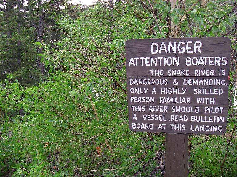 Snake River - Danger Sign
